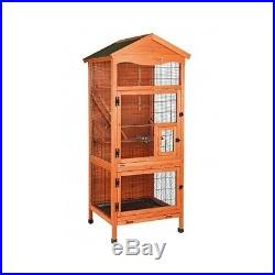 Wooden Pet Bird Cages Supplies Parakeet Shelter Large Aviary Parrot Outdoor Food