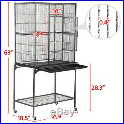 Wrought Iron Standing Large Bird Cage Cockatiel Conure Mid-sized Parrot Cage