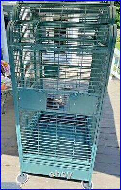 XLKings Cages Parrot Bird cage In Green f. Macaws, Amazons, Large Cockatoos