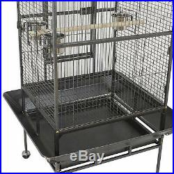 XL large Bird Cage House Play Top Parrot Parakeet Cockatiel with Rolling Stand