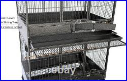 X-LARGE 3-STACKER Wrought Iron Bird Parrot Breeder Breeding Cage With Roller