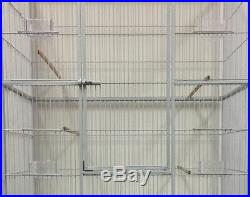 X-LARGE 64 Double Flight Breeding Canaries Aviaries Bird Cage With Divider 140