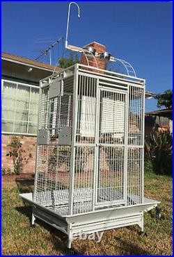 X-Large Open Play Top Double Ladder Parrot Toy Hood Cage Cockatiel Macaw Conure