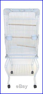 YML 20 Open Top Parrot Cage WithStand White 600HWHT Bird Cage NEW