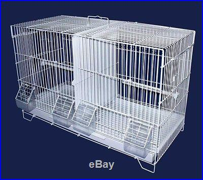 YML 3/8 Canary Finch Breeding Cage, Large, White 2414 Bird Cage NEW