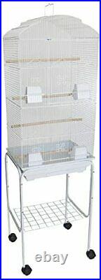YML 6804 3/8 Bar Spacing Tall Shall Top Bird Cage with Stand