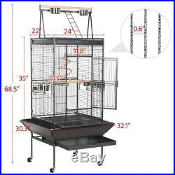 Yaheetech 68 in Large Bird Cage Play Top Parrot Finch Cage Cockatoo Cage