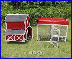 Zoovilla Red Large Chicken(6 8) Coop Metal Nest Box with Rooftop Planter New